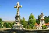 Republic of Moldova, Curchi Monastery, Stone Cross — Stock Photo