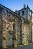 Spanien, Asturias, Cornellana, Abtei Kirche Mauer — Stockfoto
