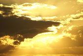 Golden cloudscape — Stock Photo