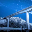 Concrete bridge in ultraviolet — Stock Photo