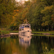 Boat ride into the fall — Stock Photo