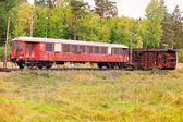 Abandoned train cars — Stock Photo