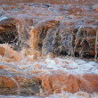 Flowing river closeup — Stock Photo