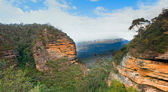 Australian mountain valley panorama — Stock Photo