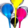 Stock Photo: Paint pots