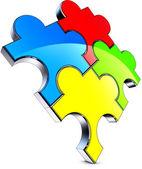 Color puzzle — Stock Photo