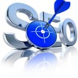 Stock Photo: SEO icon