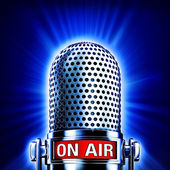 On air microphone — Stock Photo