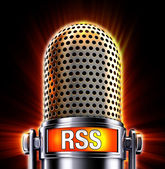 Rss microphone — Stock Photo