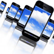 Cloud an smartphones — Stock Photo