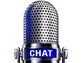 чат микрофона — Стоковое фото