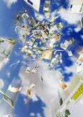 Money rain — Stok fotoğraf