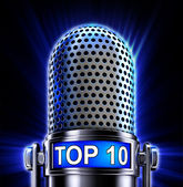 Top 10 microphone — Stock Photo