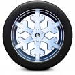 Snow tire — Stock Photo #28813759