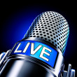 Live microphone — Stock Photo