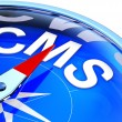 CMS compass — Stock Photo