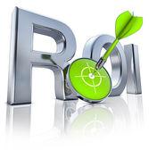 ROI icon — Stock Photo