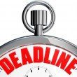 Deadline — Foto de Stock