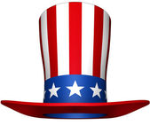 Uncle sam hat — 图库照片