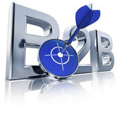 B2b 图标 — 图库照片