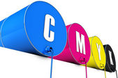 Cmyk tons — Stock Photo