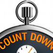 Stock Photo: Count down