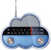 Cloud radio — Stock Photo