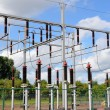 Substation with transformers — Stock Photo