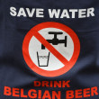 Safe water, drink Belgian beer — Stock Photo