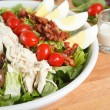 Close up view of hearty Cobb Salad — Stock Photo