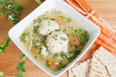Matzah Ball Soup — Stock Photo