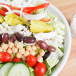 Market fresh chef salad with an assortment of vegetables and legumes served with ranch dressing — Stock Photo #27911217