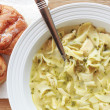 Home Made Chicken Noodle Soup for your Flu — Stock Photo