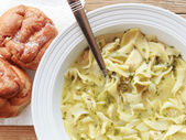Home Made Chicken Noodle Soup for your Flu — Stock fotografie