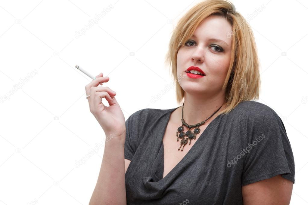 Sexy girl smoking stock photos