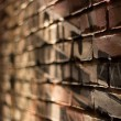 Bricked Wall Stage Lights Macro Background — Stock Photo