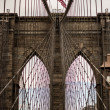 Brooklyn Bridge in New York City Background — Foto Stock