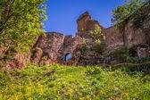 Muralha do Castelo de natureza do rock formação fortaleza — Fotografia Stock