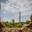 Factory Demolished Wall View Decay Concept — Stock Photo