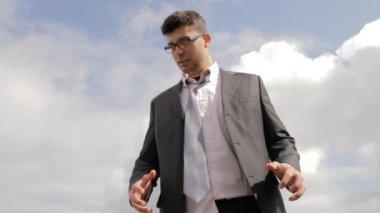 Business Problem Upset Businessman Pain Desperation Drama — Stock Video