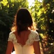 Bride Dress Nature Sunlight — Stock Video