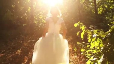 Runaway Bride Concept — Stock Video