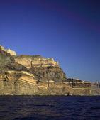 Volcanic cliffs Santorini — Stock Photo