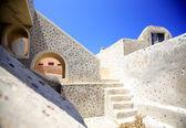 Up the steps in Santorini — Stock Photo