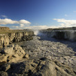 Stock Photo: Basalt columns, Dettifoss