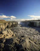 Basalt columns, Dettifoss — Stock Photo