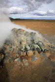 Steaming fumaroles — Stock Photo