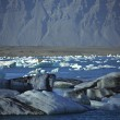 Stock Photo: Scattering of icebergs