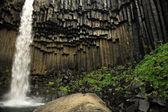 Svartifoss waterfall and basalt columns — Stock Photo