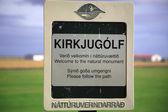 Kirkjugolf signpost — Stock Photo